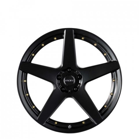 Blade - Matt Black Gold Bolts Wheels