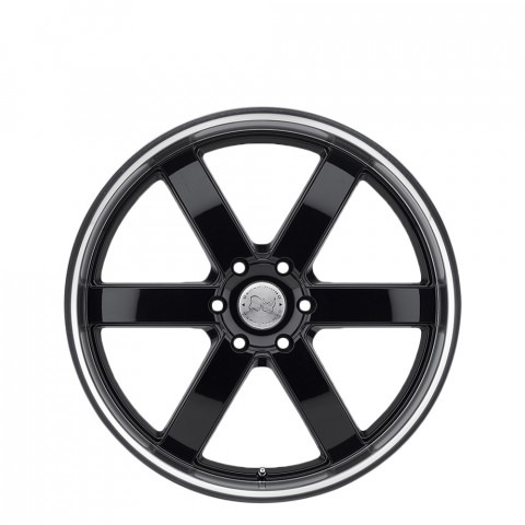 Pondora - Gloss Black W/Machine Cut Lip Wheels