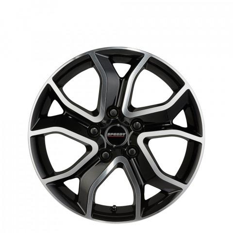 Elite - Gloss Black/Machine Wheels