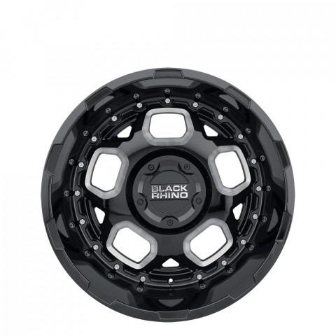 Gusset - Gloss Black W/Milled Spokes Wheels