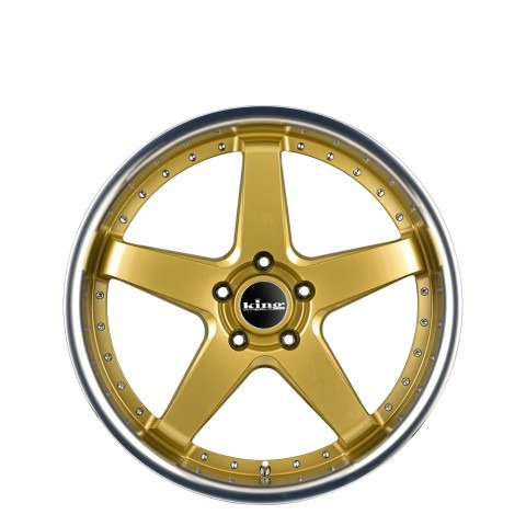 Detroit - Gold Machined Lip Wheels
