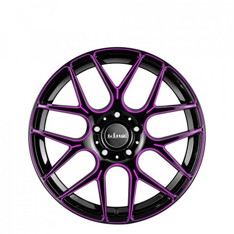 Matrix - Pink Black Piped Wheels