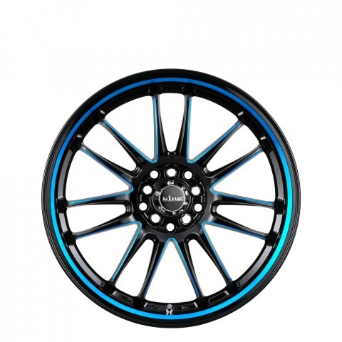 Drifta - Black with Blue Piping and Pin Wheels