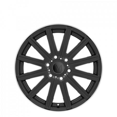Stark - Matte Black W/Machine Lip Edge Wheels