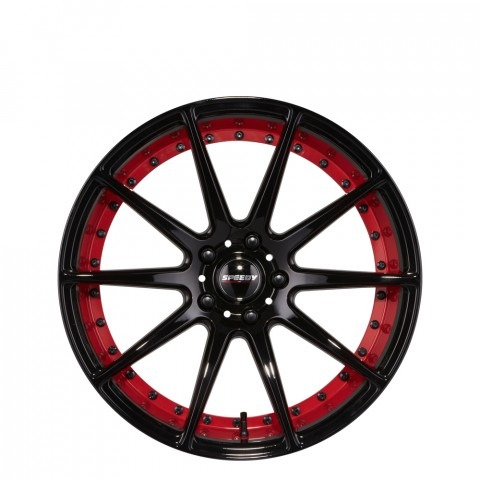 Track - Gloss Black/Anode Red Wheels