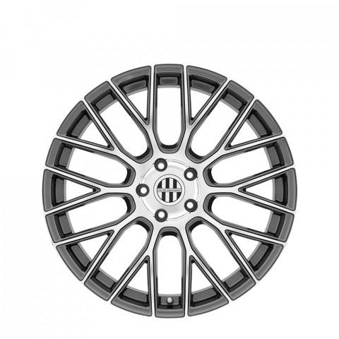 Stabil - Gunmetal W/Mirror Cut Face Wheels