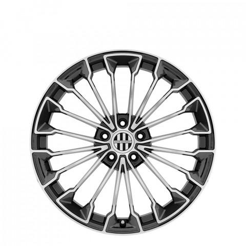 Wurttemburg - Gunmetal W/Mirror Cut Face Wheels