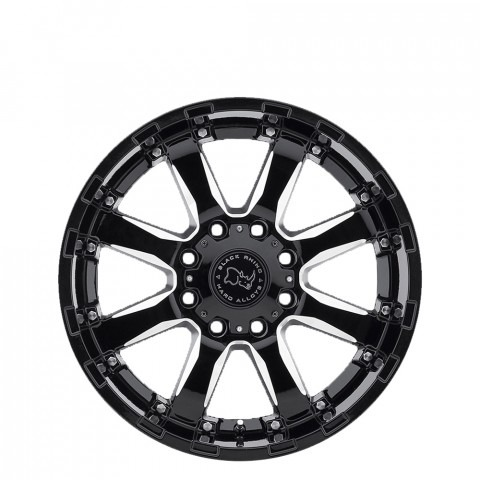 Sierra - Gloss Black W/Milled Spokes  Wheels