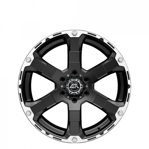 Magnum. - Matt Black/Machined Edge Wheels