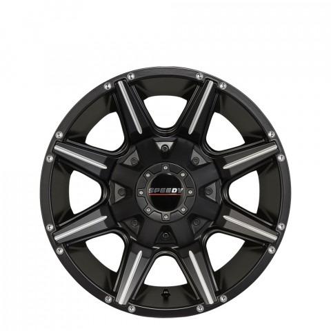 Bighorn - Satin Black/Milled Accents Wheels