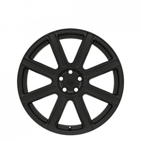 Wilks - Matte Black W/Gloss Black Face Wheels