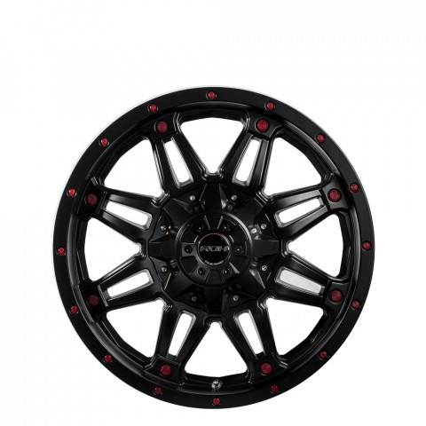 Assassin Redback - Matt Black Red Bolts Wheels