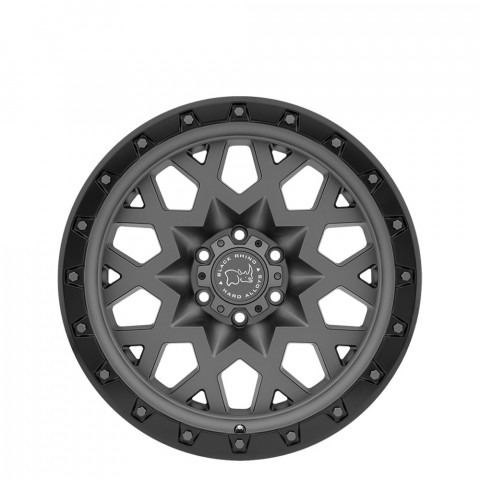 Sprocket - Matte Gunmetal W/Black Lip Edge (Gunmetal Bolts) Wheels