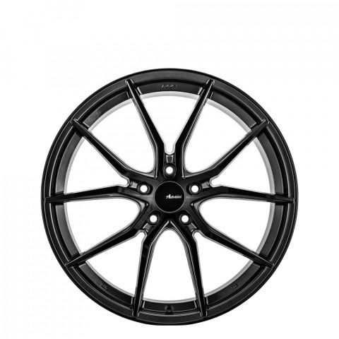N717 - Gloss Black/ Gun Metal Wheels