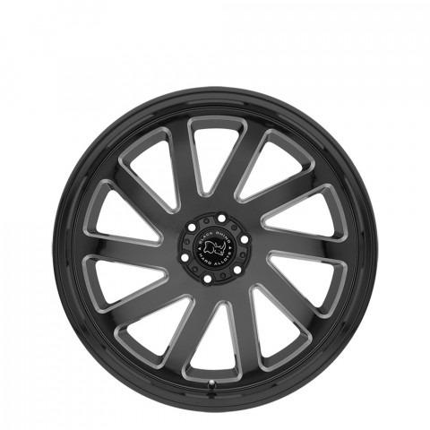 Thrust - Gloss Black W/Milled Spokes Wheels