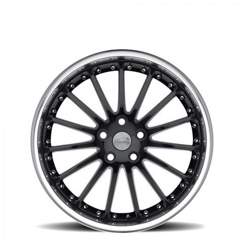 Whitley - Gloss Black W/Mirror Cut Lip Wheels