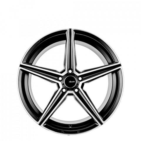Summit - Semi Matt Black/Face Polish Wheels