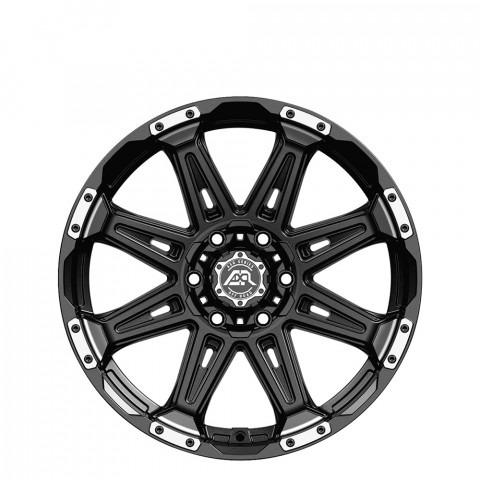 AXR M8 - Matt Black/Machined Lip Wheels