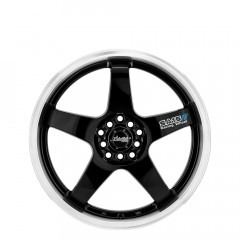 SA15 - Gloss Black/Lip Polish wheels