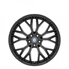 Antler - Double Black - Matte Black W/Gloss Black Face wheels