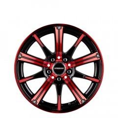 RimFire - Gloss Black/Candy Apple Red wheels