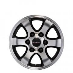 Grande - Machined/Gloss Black wheels