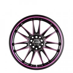 Drifta - Pink Black Piped wheels