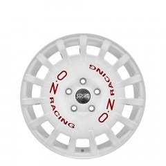 Rally Racing - White Red Lettering wheels