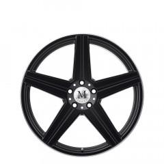 Estrella - Matte Black W/Machine Lip Edge wheels