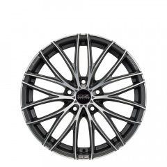 Italia 150 - Matt Dark Graphite Diamond Cut wheels
