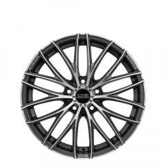 Italia 150 - Matt Dark Graphite Diamond Cut wheels