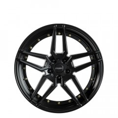 RO1 - Matt Black Gold Bolts wheels