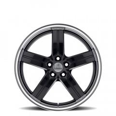 Morro - Gloss Black W/Mirror Cut Lip wheels