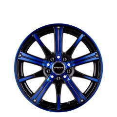RimFire - Gloss Black/Electric Blue wheels