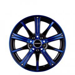 RimFire - Gloss Black/Electric Blue wheels