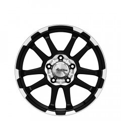 Krawler Five - Matt Black Polished Lip & Centre wheels