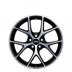 SR - Satin Vulcano Grey Diamond Cut wheels