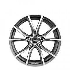 Gerrard - Matt Gunmetal/Full Polish wheels
