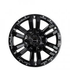 Vapour - Matt Black Silver Bolts wheels