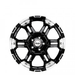 Trakker - Matt Black/Polished Lip wheels