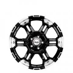 Trakker - Matt Black/Polished Lip wheels