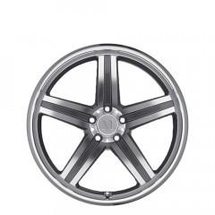 Mannheim - Gunmetal Mirror Cut Face/Lip wheels