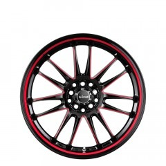 Drifta - Black with Red Piping and Pin wheels