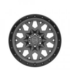 Sprocket - Matte Gunmetal W/Black Lip Edge (Gunmetal Bolts) wheels