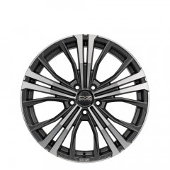 Cortina - Matt Dark Graphite Diamond Cut wheels