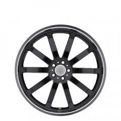 Wilhelm - Gloss Black W/Mirror Cut Lip wheels