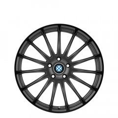 Aviatic - Matte Gunmetal W/Gloss Black Lip wheels