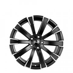Matrix - Satin Black Edge Polished wheels