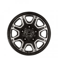 Octagon - Black Machined Face wheels
