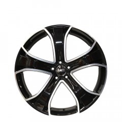 Chopper - Gloss Black/Machined Face  wheels